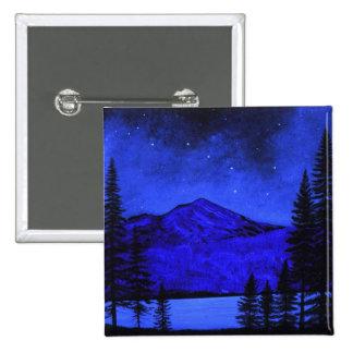 Button ~ Mount Shasta In Starlight