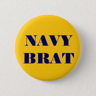 Button Navy Brat