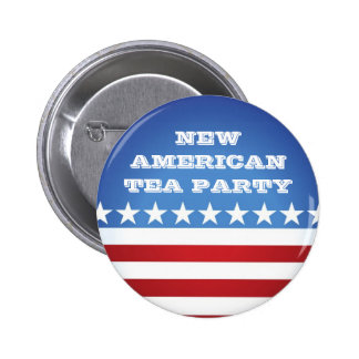 Button-New American Tea Party Pinback Button