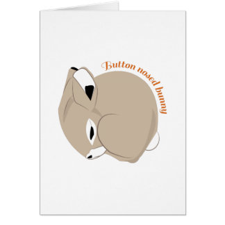 Button Nosed Bunny Card