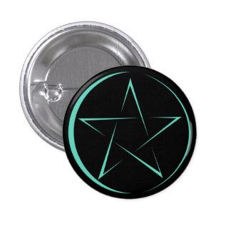 Button Pentagrama Pin Redondo De 1 Pulgada