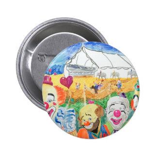 Button Pin Back Circus Clowns