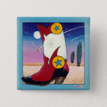 Button Pin - Cowboy Boot, All Dressed Up