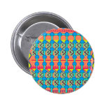 Button/Pin with Colorful Geometric Design