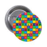 Button/Pin with Fun Bottlecap Design
