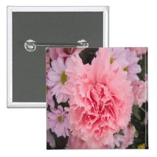Button Pink Carnation Beauty
