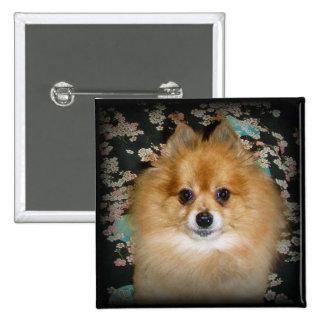 Button Pomeranian dog Marley Pinback Button