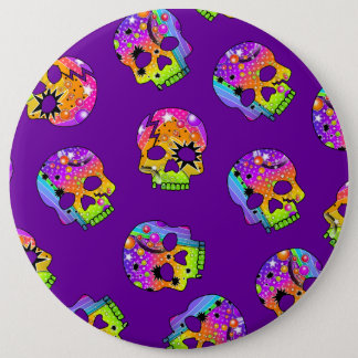 Button -  - POP ART SKULLS