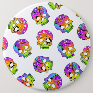 BUTTON - POP ART SKULLS