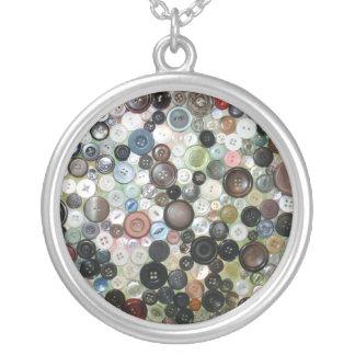 Button Print Necklace