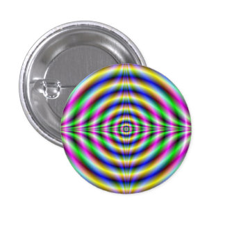 Button  Psychedelic Neon Eye