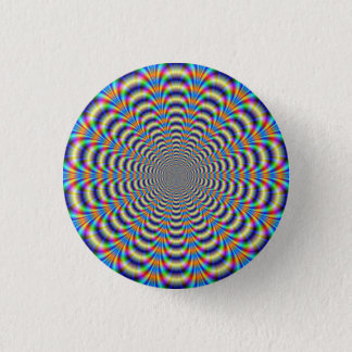 Button   Psychedelic Ringed Pulse