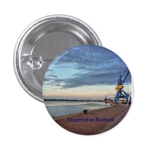 Button puerto de ciudad Rostock Pin Redondo De 1 Pulgada