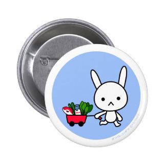 Button - Rabbit - BlueBack