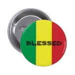 Button Rastafari-Segen 3 Pin Redondo 5 Cm
