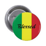 Button Rastafari-Segen Pin Redondo 5 Cm