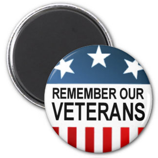 BUTTON_remember_veterans 2 Inch Round Magnet