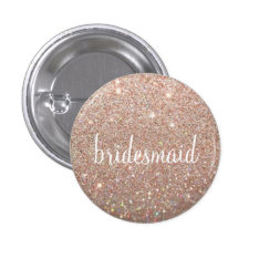 Button - Rose Gold Fab Bridesmaid at Zazzle