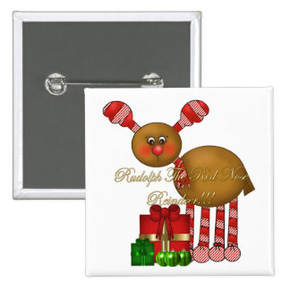 Button-Rudolph the Red Nose Reindeer 2 Inch Square Button