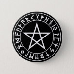 button Rune Pentacle on Blk
