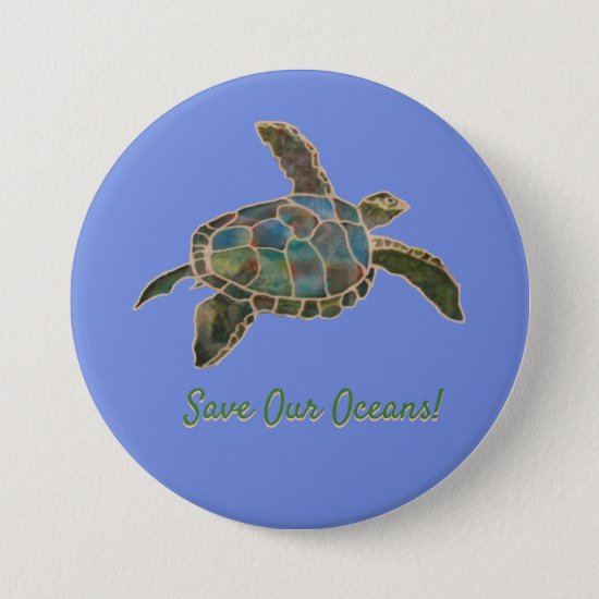 Button - Sea Turtle