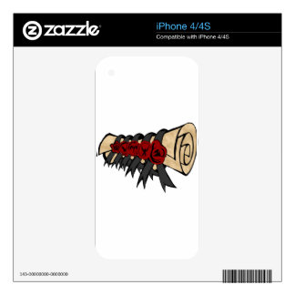 Button Seal Scroll Fiction Logo Decal For The iPhone 4S