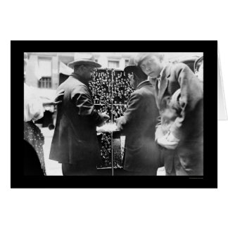 Button Seller in Little Italy, New York City 1908 Greeting Card