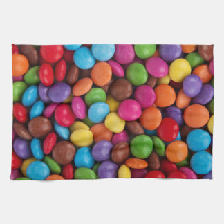 Button-Shaped Candy - Purple Pink Orange Green Towel
