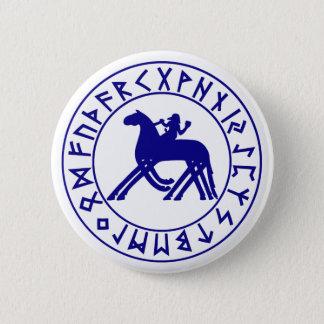 button Sleipnir Shield Blue