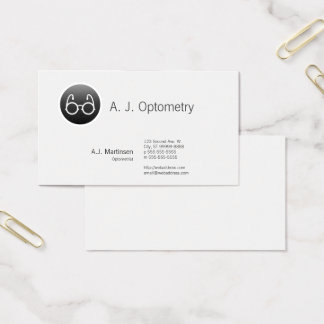 Button Style Old Fashioned Glasses Business Card