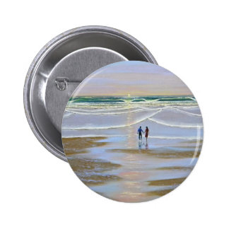 Button ~ Sunset On The Beach