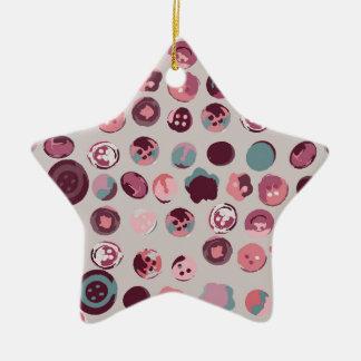 Button tin ceramic ornament