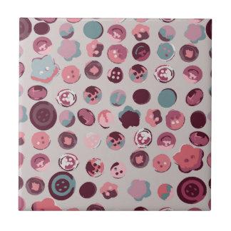 Button tin ceramic tile