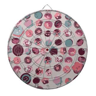 Button tin dartboard with darts