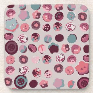 Button tin drink coaster