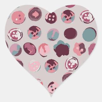 Button tin heart sticker