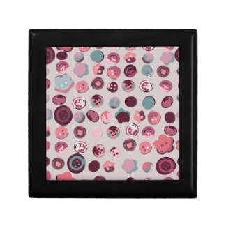 Button tin jewelry box