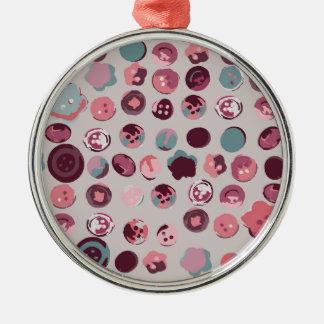 Button tin metal ornament