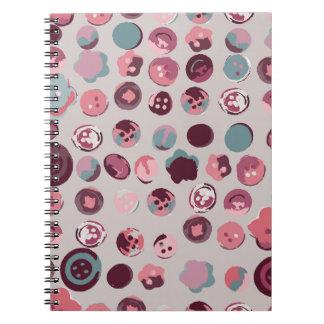 Button tin notebook