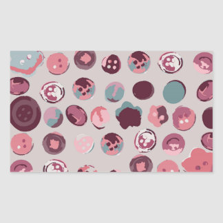 Button tin rectangular sticker