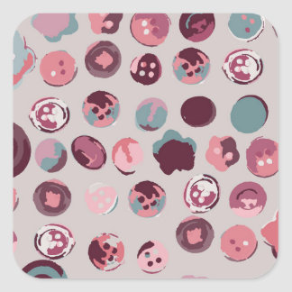 Button tin square sticker