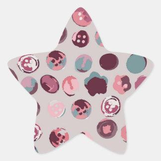 Button tin star sticker