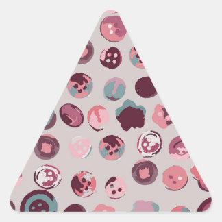 Button tin triangle sticker