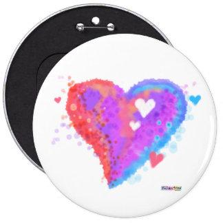 Button - Torn Heart