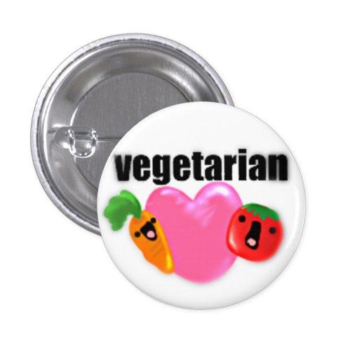 Button~ vegetariano pin