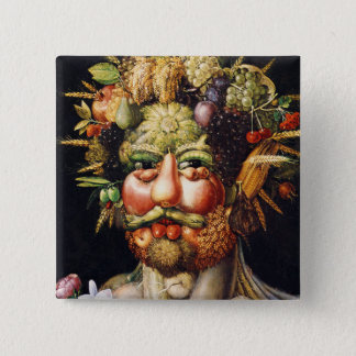 Button: Vertumnus (Portrait of Rudolf II) Pinback Button