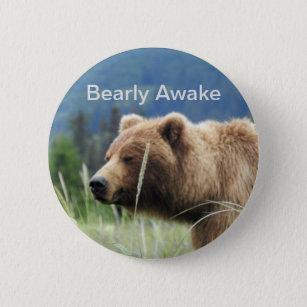 Button W Grizzly Bear