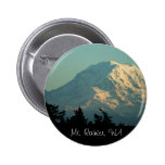 Button: Winter Mt. Rainier 2 Inch Round Button