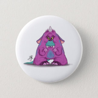 "Button with ""A"" Monster Character"