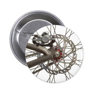 Button with Bike Wheel Hub